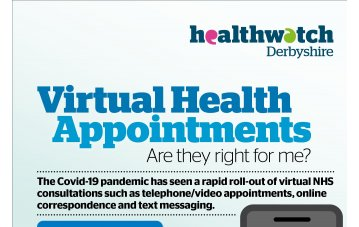 Have Your Say on Virtual Health Appointments - Healthwatch Derbyshire Consultation