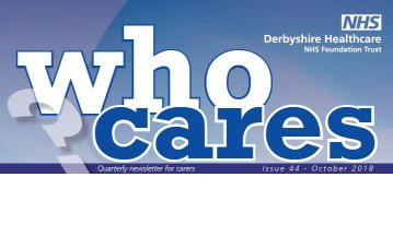 Derbyshire Healthcare Who Cares Newsletter October 2018